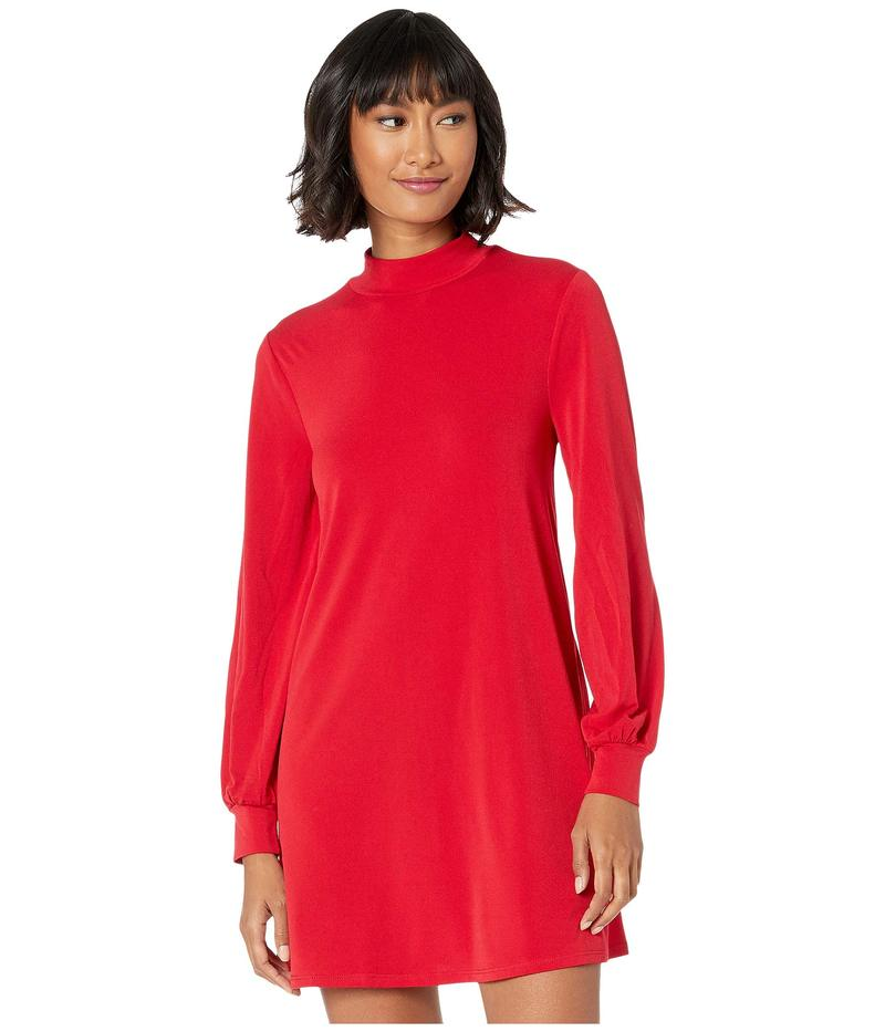 BCBジェネレーション レディース ワンピース トップス Day Mock Neck Dress XYE65P56 Ruby Red
