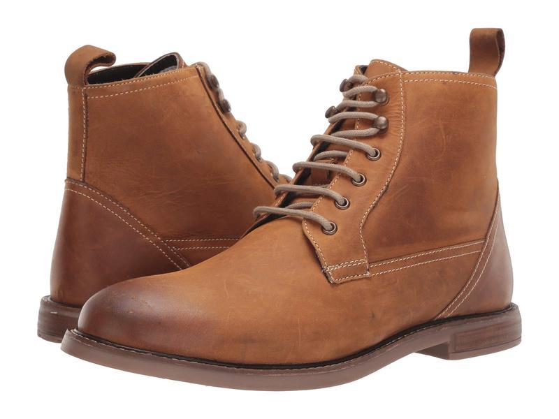 ベンシャーマン メンズ ブーツ・レインブーツ シューズ Birk Plain Toe Boot Tan Leather