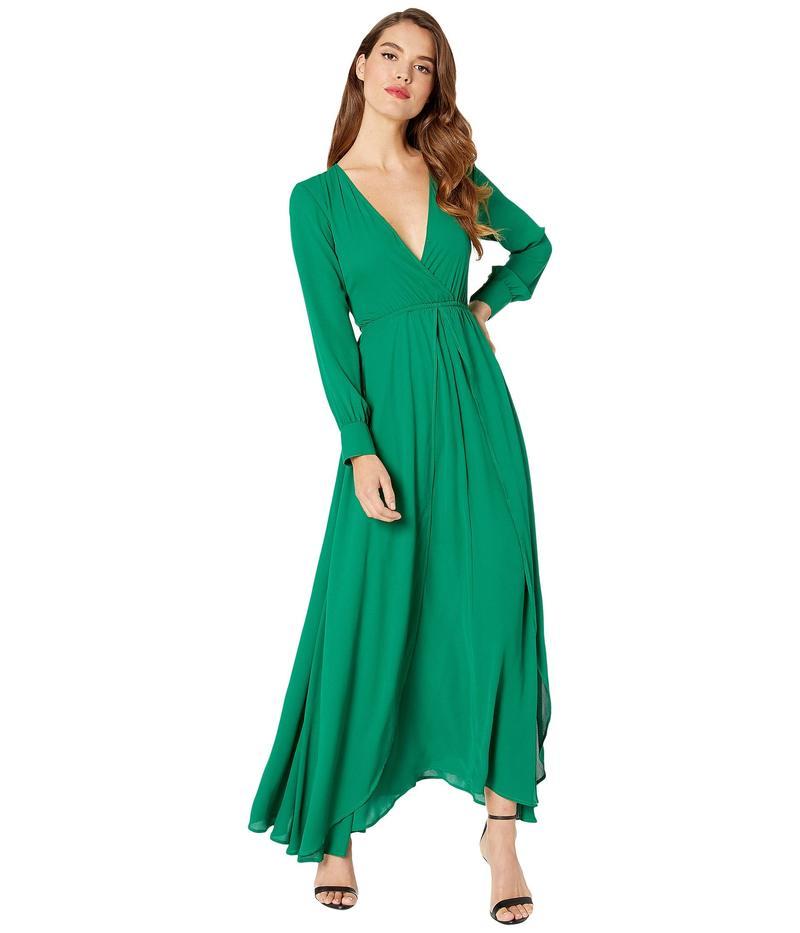 ユニークビンテージ レディース ワンピース トップス Long Sleeve Farrah Maxi Dress Green