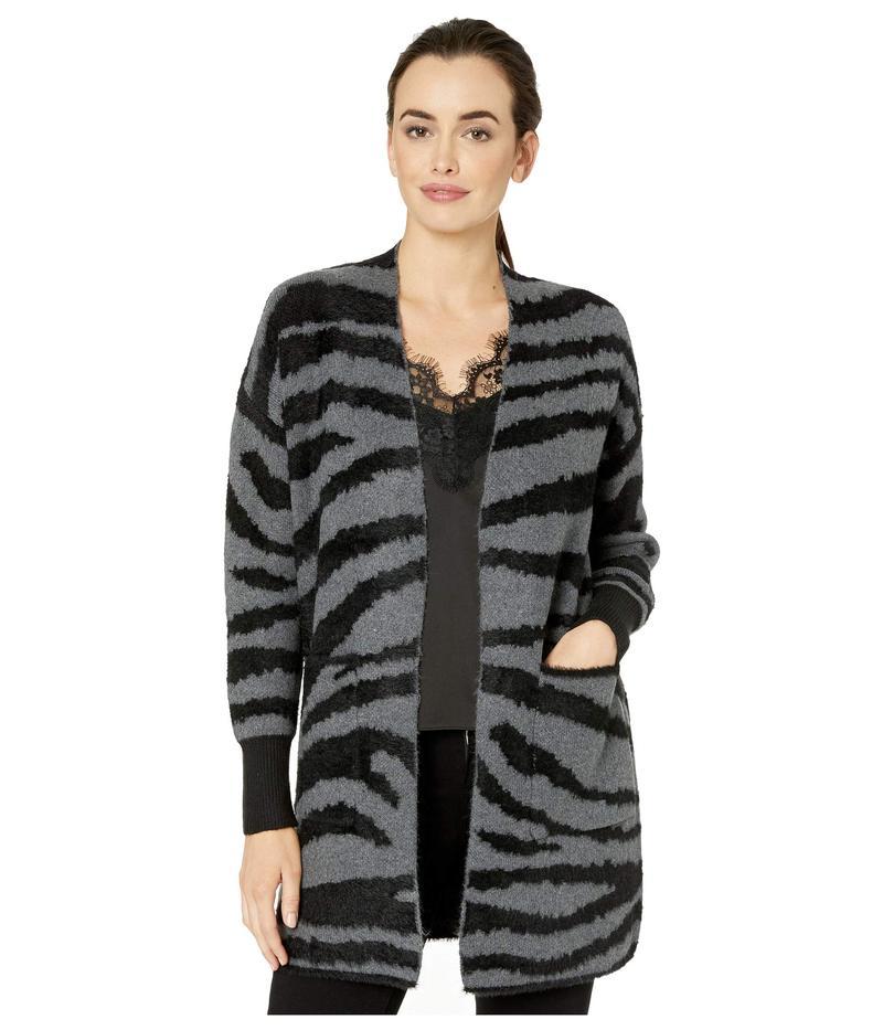ヴィンスカムート レディース ニット・セーター アウター Long Sleeve Short Eyelash Zebra Two-Pocket Cardigan Medium Heather