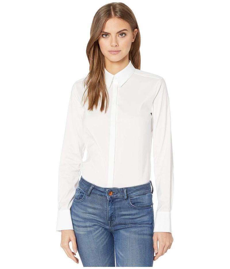 ウォルフォード レディース シャツ トップス London Effect Bodysuit White