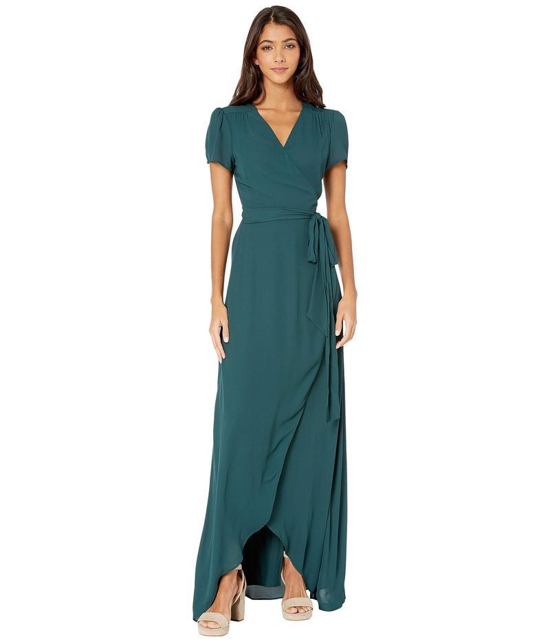 ワイフ レディース ワンピース トップス Zoey Short Sleeve Wrap Dress Pine
