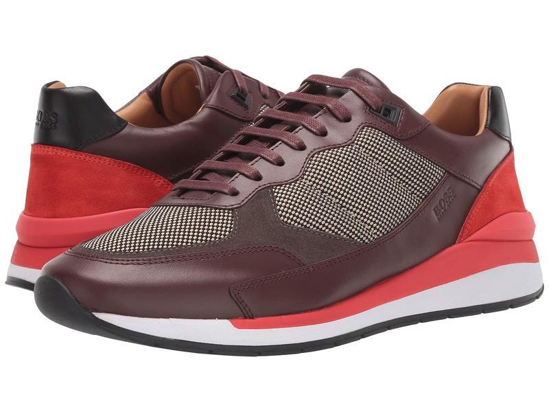 ヒューゴボス メンズ スニーカー シューズ Element Runn Sneaker Open Red