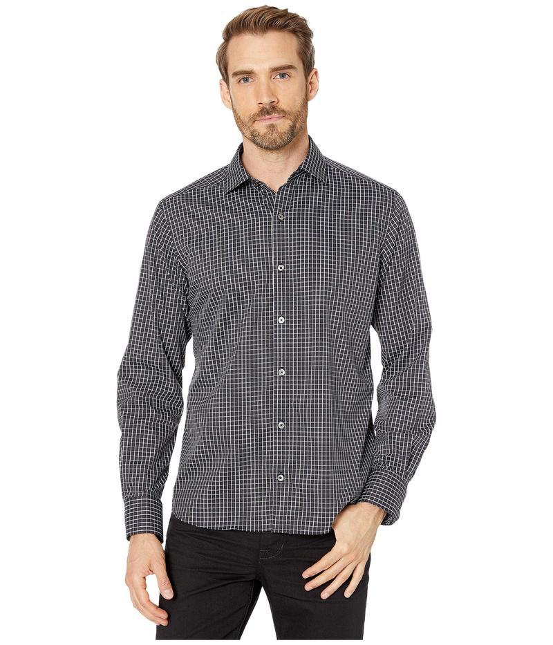 ブガッチ メンズ シャツ トップス Dingle Long Sleeve Shirt Button-Down Collar Regular Placket Caviar