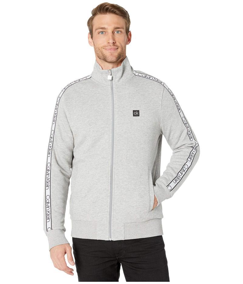 カルバンクライン メンズ コート アウター Athletic Knit Sweatshirt Heroic Grey Hea