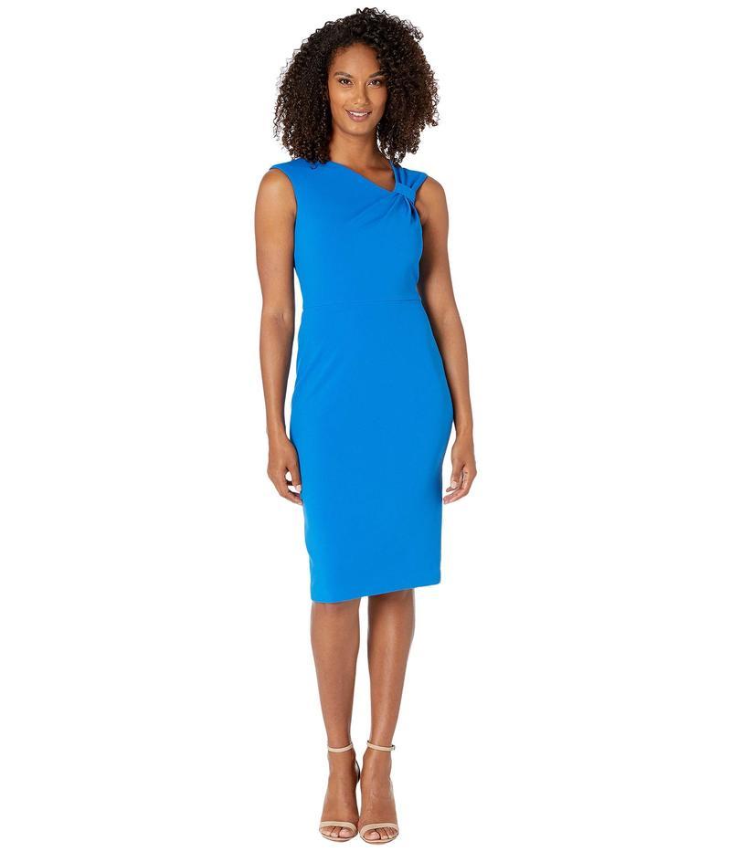 カルバンクライン レディース ワンピース トップス Asymmetric Neck Sheath Dress Cobalt