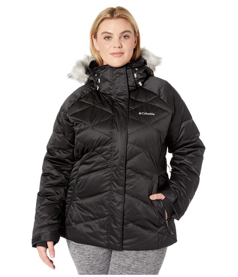 コロンビア レディース コート アウター Plus Size Lay D Down¢ II Jacket Black Satin 2
