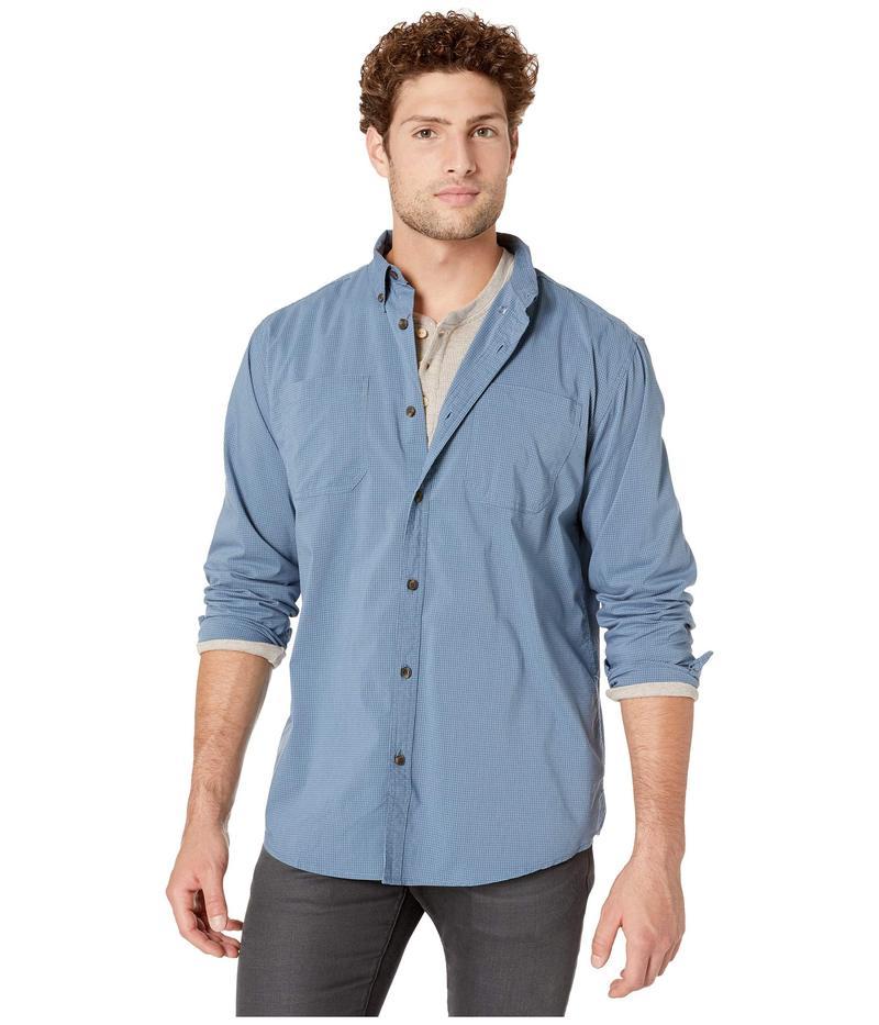 ディッキーズ メンズ シャツ トップス Long Sleeve Flex Plaid Woven Shirt Dark Denim/Dust
