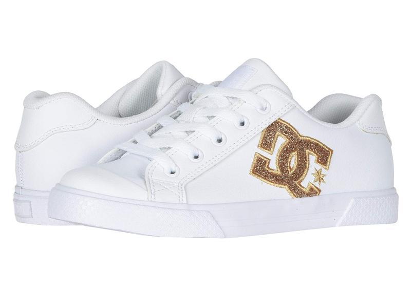 ディーシー レディース スニーカー シューズ Chelsea SE W White/Gold