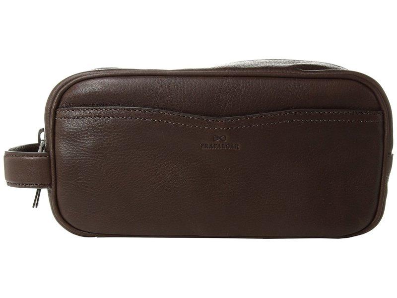 トラファルガー メンズ ボストンバッグ バッグ Mason Top Zip Travel Kit Dark Brown
