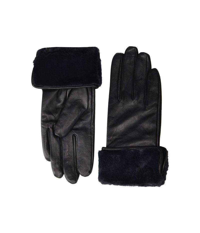 エコーデザイン レディース 手袋 アクセサリー Faux Fur Cuff Gloves Black
