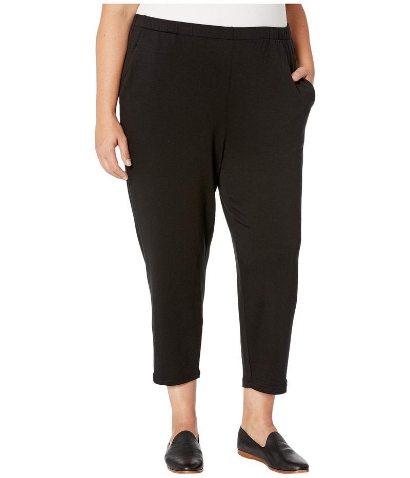 エイリーンフィッシャー レディース カジュアルパンツ ボトムス Plus Size Tencel Stretch Terry Slouchy Ankle Pants with Pockets Black