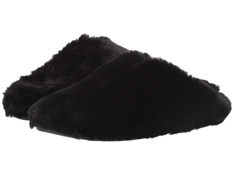 フィットフロップ レディース サンダル シューズ Furry Slipper All Black
