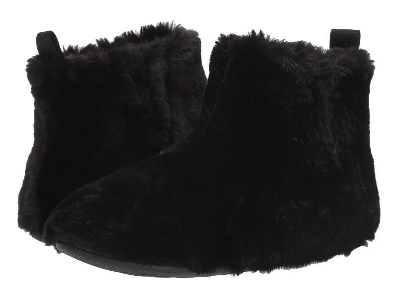 フィットフロップ レディース サンダル シューズ Furry Slipper Bootie All Black