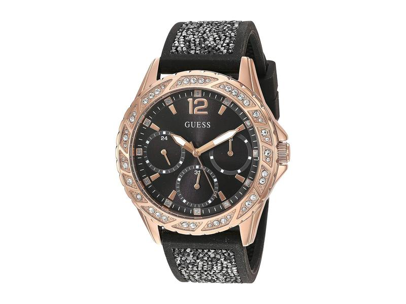 ゲス レディース 腕時計 アクセサリー U1096L5 Rose Gold/Black