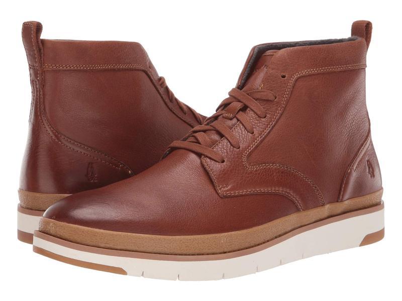 ハッシュパピー メンズ ブーツ・レインブーツ シューズ Caleb PT Boot Cognac Leather