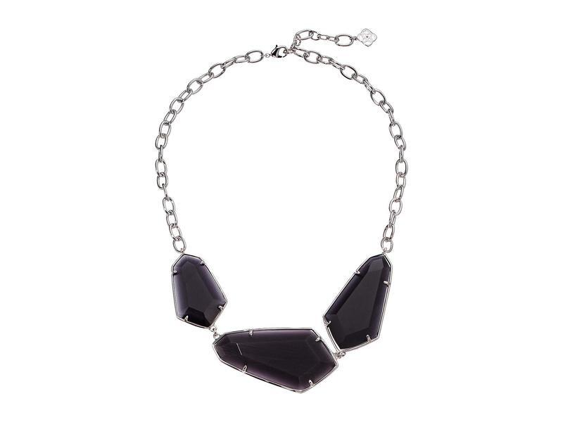 ケンドラスコット レディース ネックレス・チョーカー・ペンダントトップ アクセサリー Violet Statement Necklace Rhodium Black C