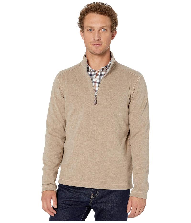 ジョンストンアンドマーフィー メンズ ニット・セーター アウター Reversible 1/4 Zip Oatmeal/Gray