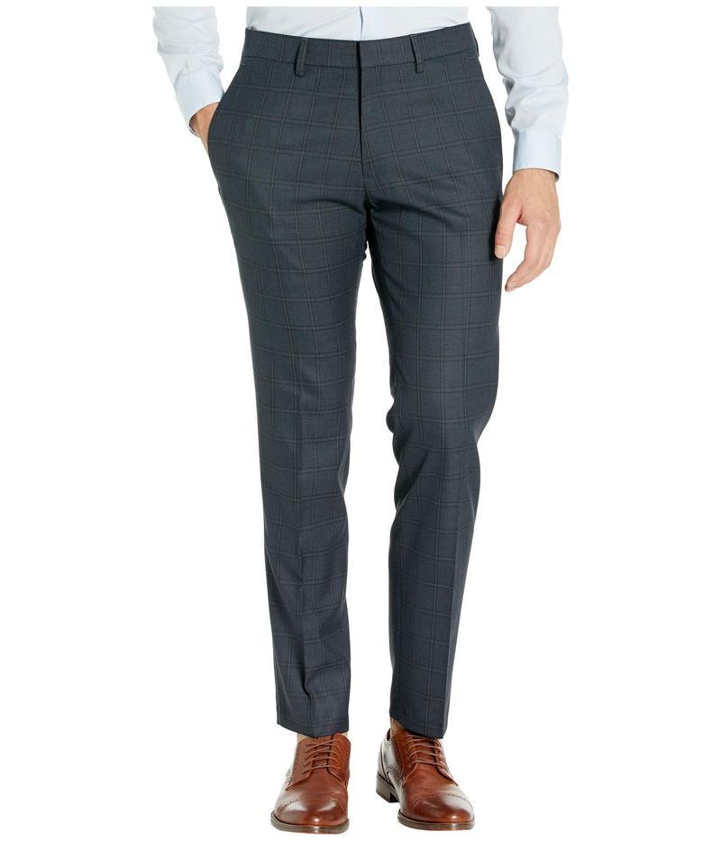 ケネスコール メンズ カジュアルパンツ ボトムス Stretch Windowpane Slim Flat Front Dress Pants Charcoal Heathe