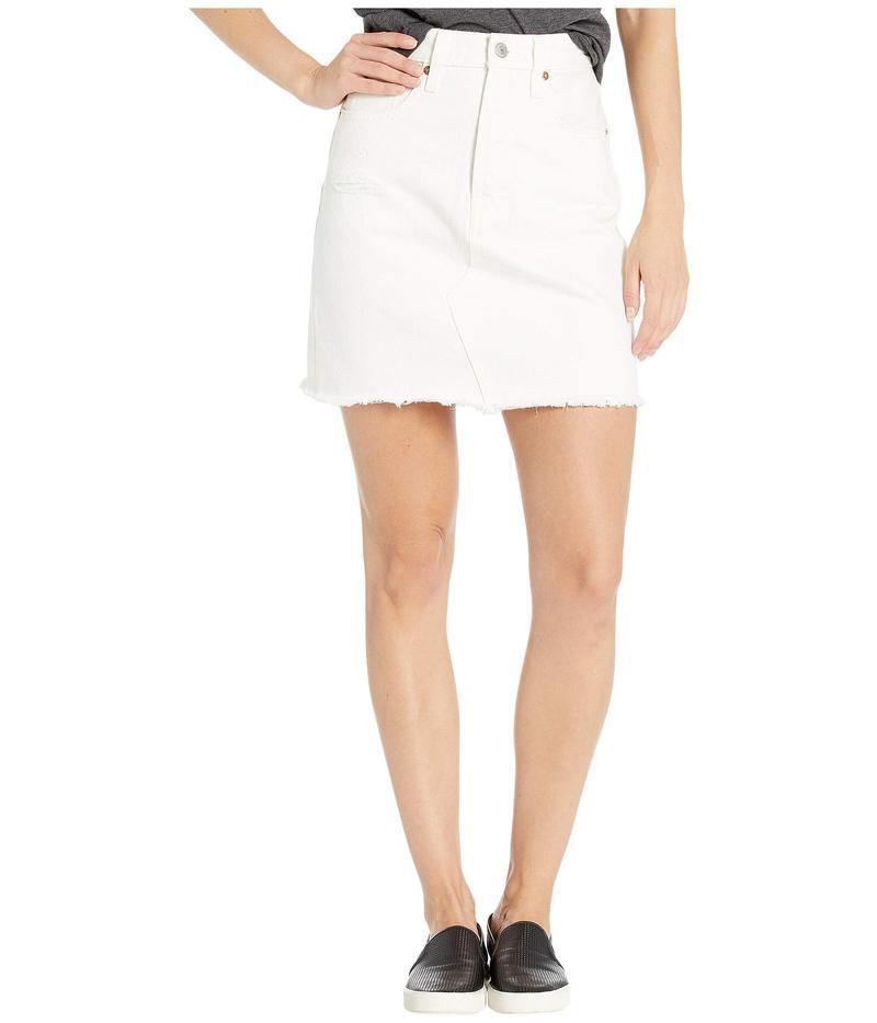 リーバイス レディース スカート ボトムス High-Rise Deconstructed Boyfriend Skirt Pearly White