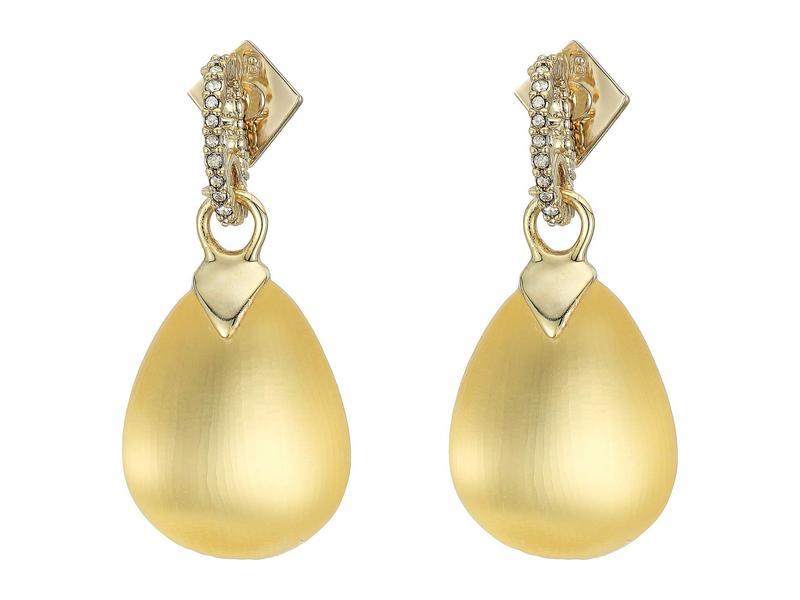 アレクシス ビッター レディース ピアス・イヤリング アクセサリー Tear Drop Crystal Post Earrings Gold