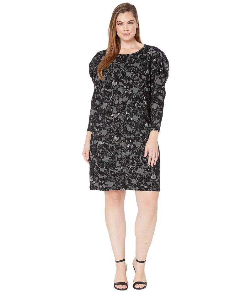 マイケルコース レディース ワンピース トップス Plus Size Glam Lace Puff Sleeve Dress Bone/Black