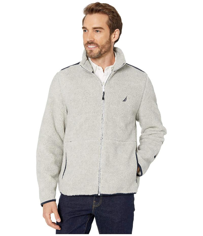 ナウティカ メンズ コート アウター Sherpa Mix Jacket Grey Heather
