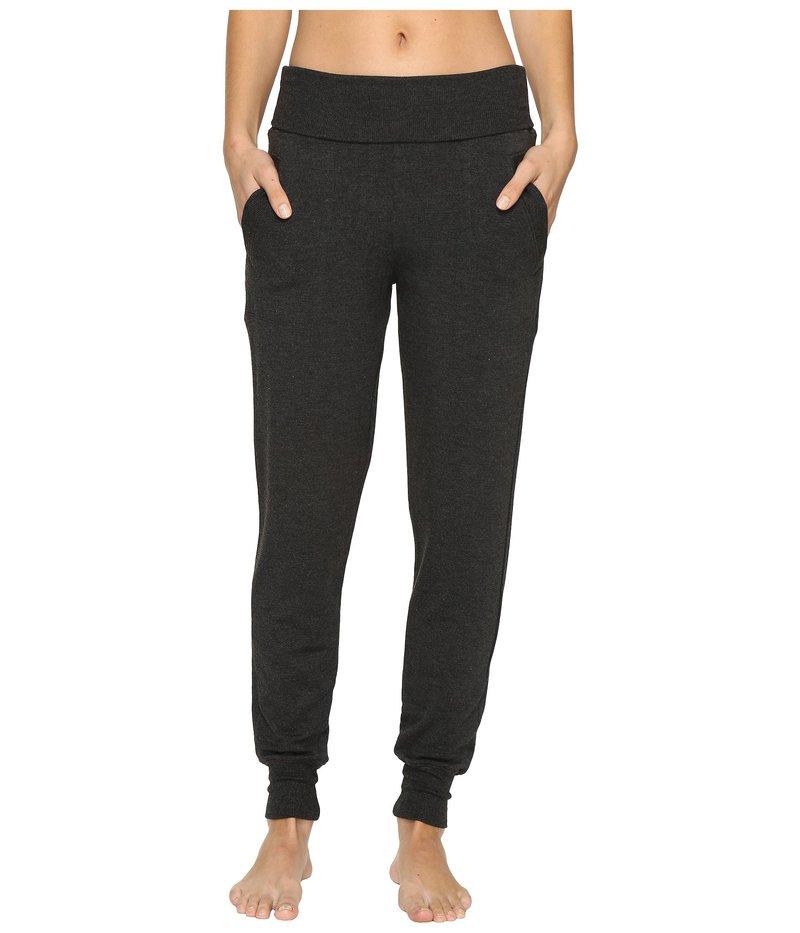 ビヨンドヨガ レディース カジュアルパンツ ボトムス Fleece Fold-Over Sweatpants Charcoal Heather Gray