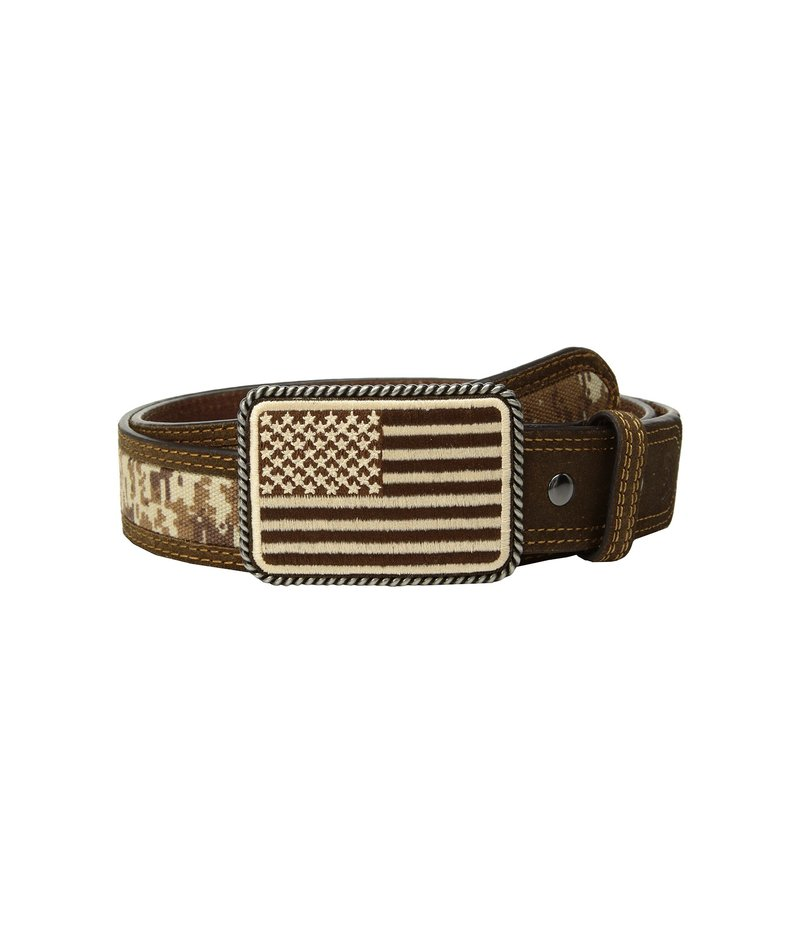 アリアト メンズ ベルト アクセサリー Sport Patriot with USA Flag Buckle Belt Medium Brown