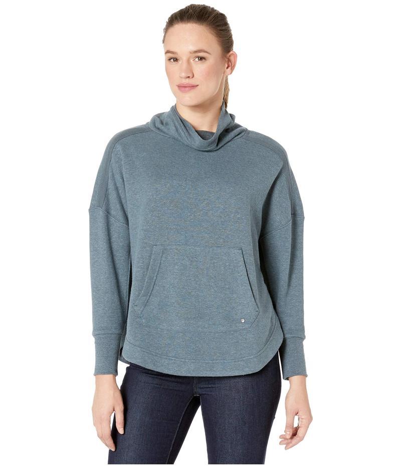 プラーナ レディース コート アウター Cozy Up Poncho Grey Blue Heath