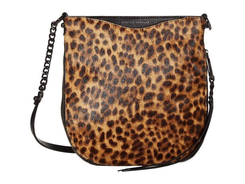 レベッカミンコフ レディース ハンドバッグ バッグ Emma Swing Crossbody Leopard