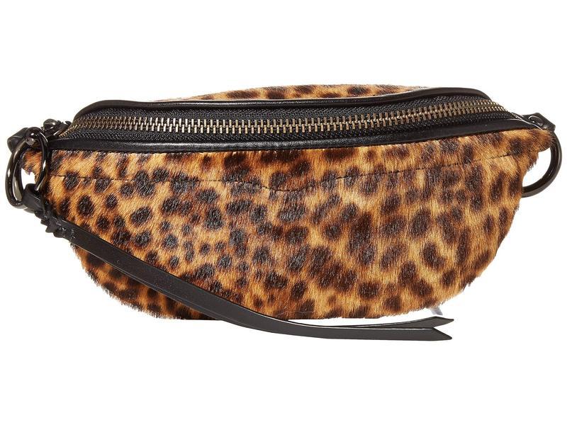 レベッカミンコフ レディース ボディバッグ・ウエストポーチ バッグ Bree Mini Belt Bag Leopard