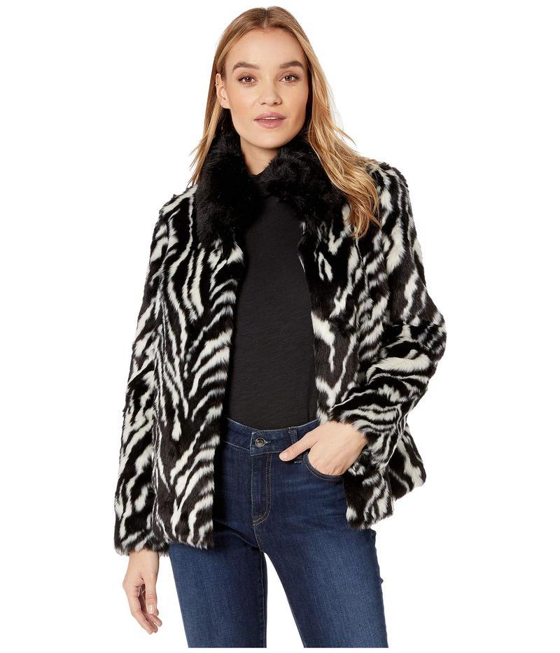 サムエデルマン レディース コート アウター Zebra Stripe Faux Fur Jacket Stripe Animal