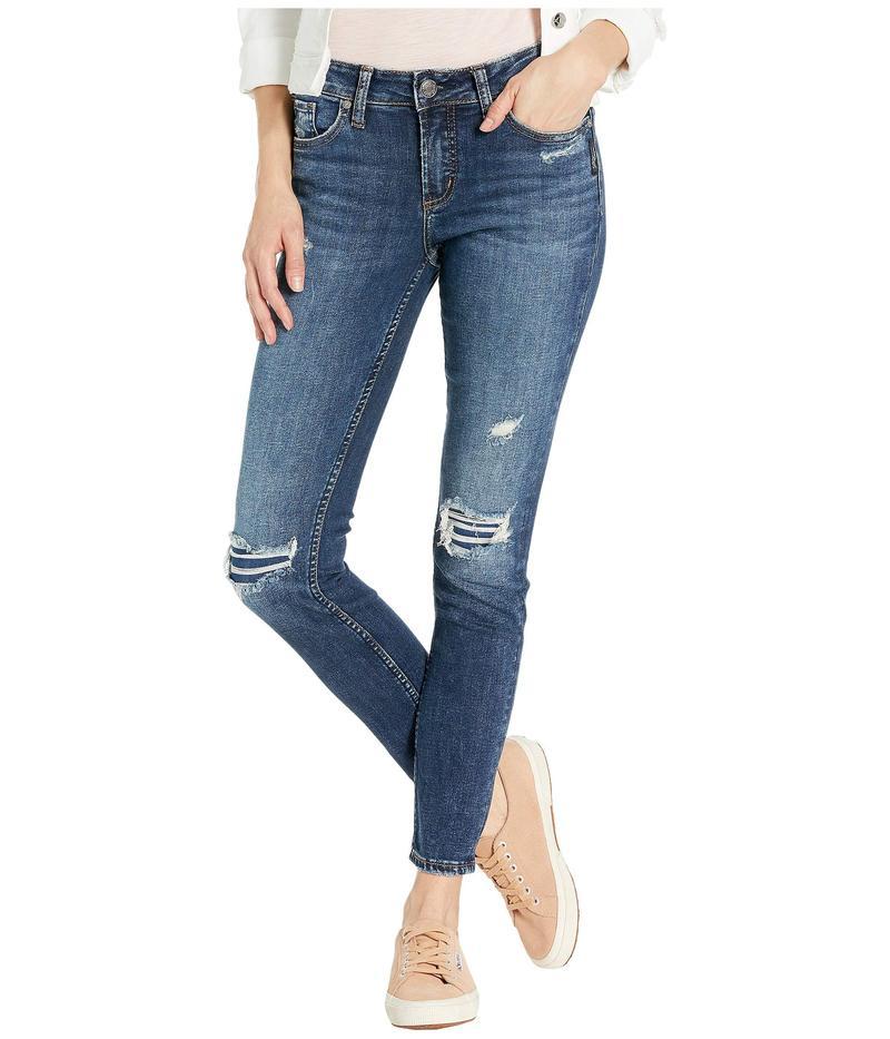 シルバー ジーンズ レディース デニムパンツ ボトムス Elyse Mid-Rise Curvy Fit Skinny Jeans L03116SSX338 Indigo