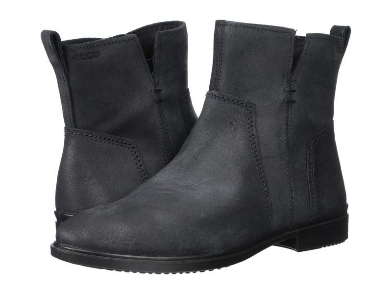 エコー レディース ブーツ・レインブーツ シューズ Touch 15 B Ankle Boot Black Cow Suede