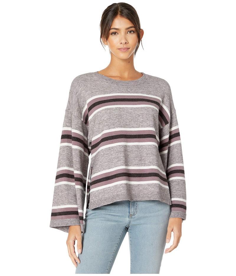 カップケーキアンドカシミア レディース ニット・セーター アウター Amour Striped Pullover with Side Slits Heather Grey
