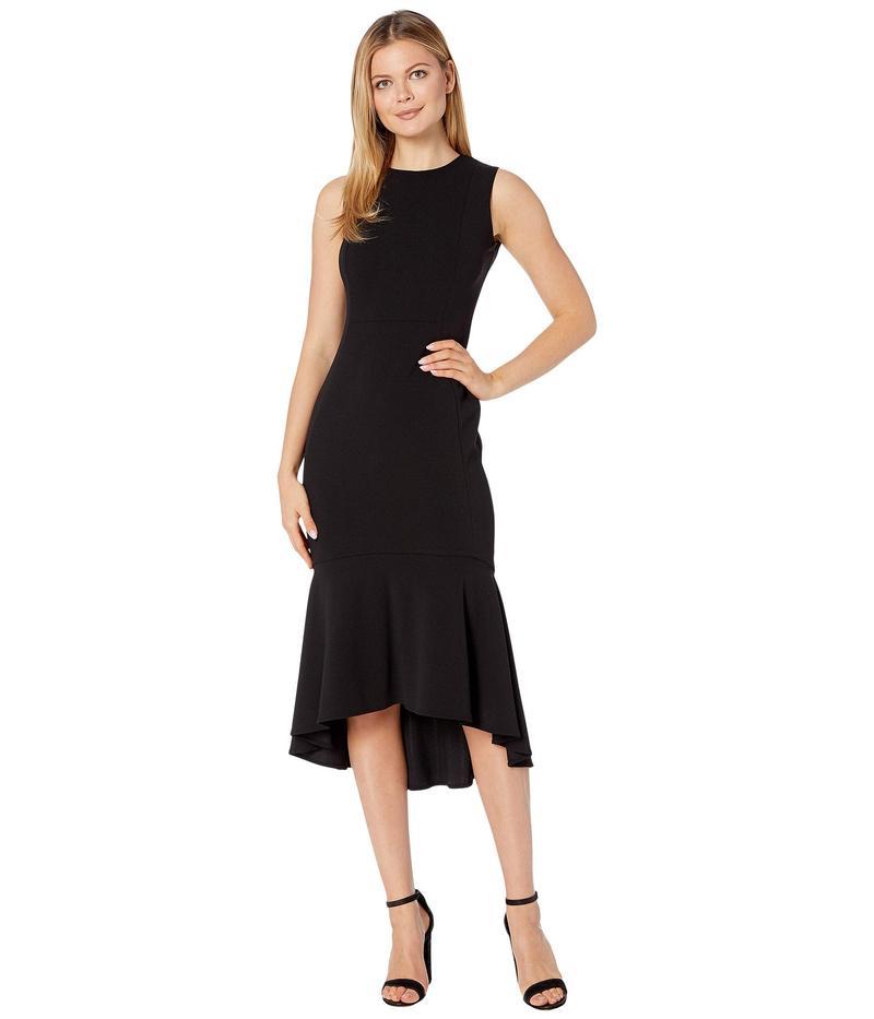 カルバンクライン レディース ワンピース トップス Embellished Neck High-Low Dress Black