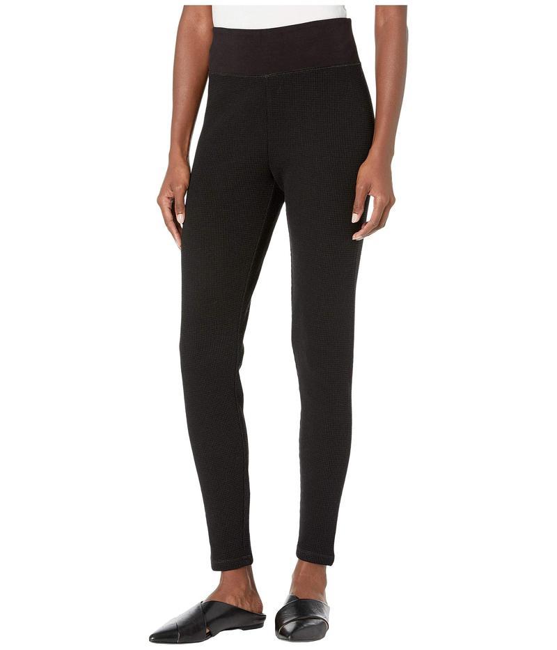エイリーンフィッシャー レディース カジュアルパンツ ボトムス Organic Cotton Waffle Knit Ankle Pants Black