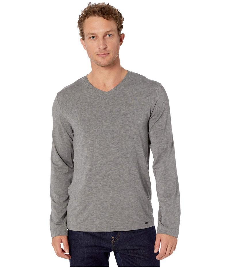 ハンロ メンズ シャツ トップス Casuals Long Sleeve Shirt Stone Melange