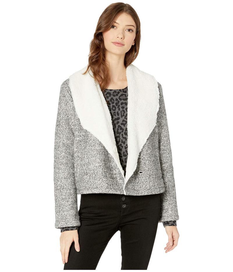 ジャック バイ ビービーダコタ レディース コート アウター Warm Regards Bonded Knit and Faux Fur Shearling Hidden Button Front Jacket Light Heather G
