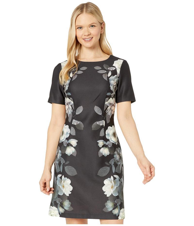 アドリアナ パペル レディース ワンピース トップス Shadow Roses Printed A-Line Dress Black Multi