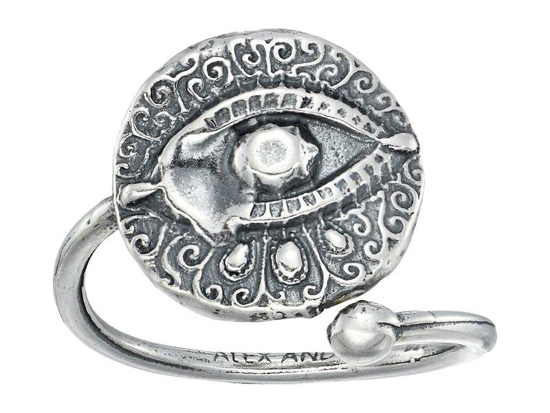 アレックスアンドアニ レディース リング アクセサリー Evil Eye Ring Wrap Sterling Silver