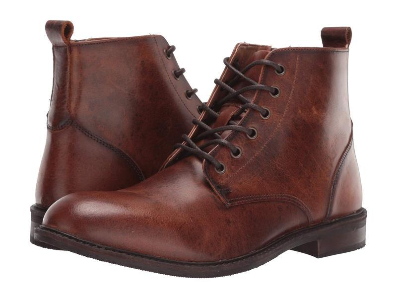 スティーブ マデン メンズ ブーツ・レインブーツ シューズ Krank Boot Cognac Leather