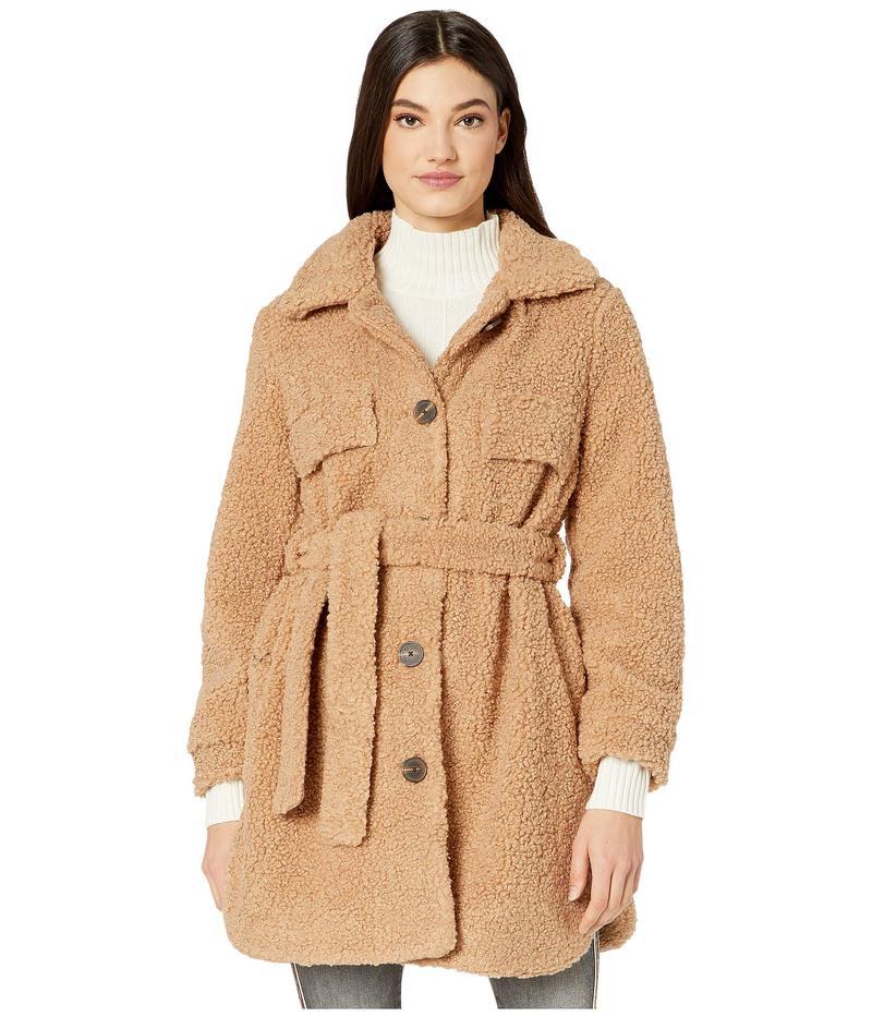 ブランクニューヨーク レディース コート アウター Faux Sherpa Belted Coat in Toffee Camel