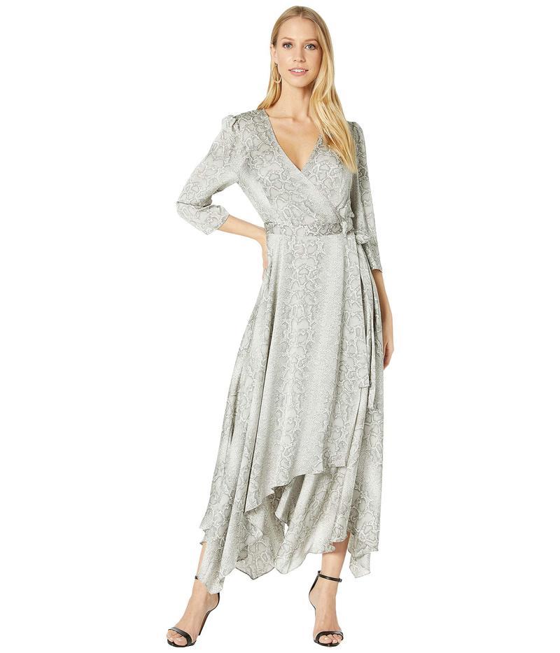 ビーシービージーマックスアズリア レディース ワンピース トップス Long Sleeve Printed Wrap Dress Grey Frost/Pyth