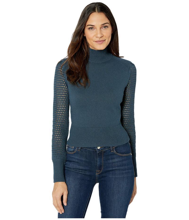 ビーシービージーマックスアズリア レディース ニット・セーター アウター Turtleneck Long Sleeve Sweater Midnight Teal