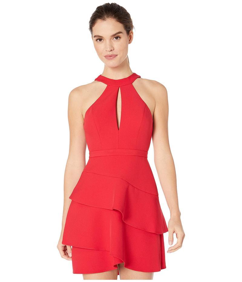 ビーシービージーマックスアズリア レディース ワンピース トップス Eve Short Woven Dress Rio Red
