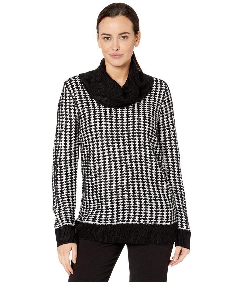カルバンクライン レディース ニット・セーター アウター Long Sleeve Dot Sweater White/Black Mul