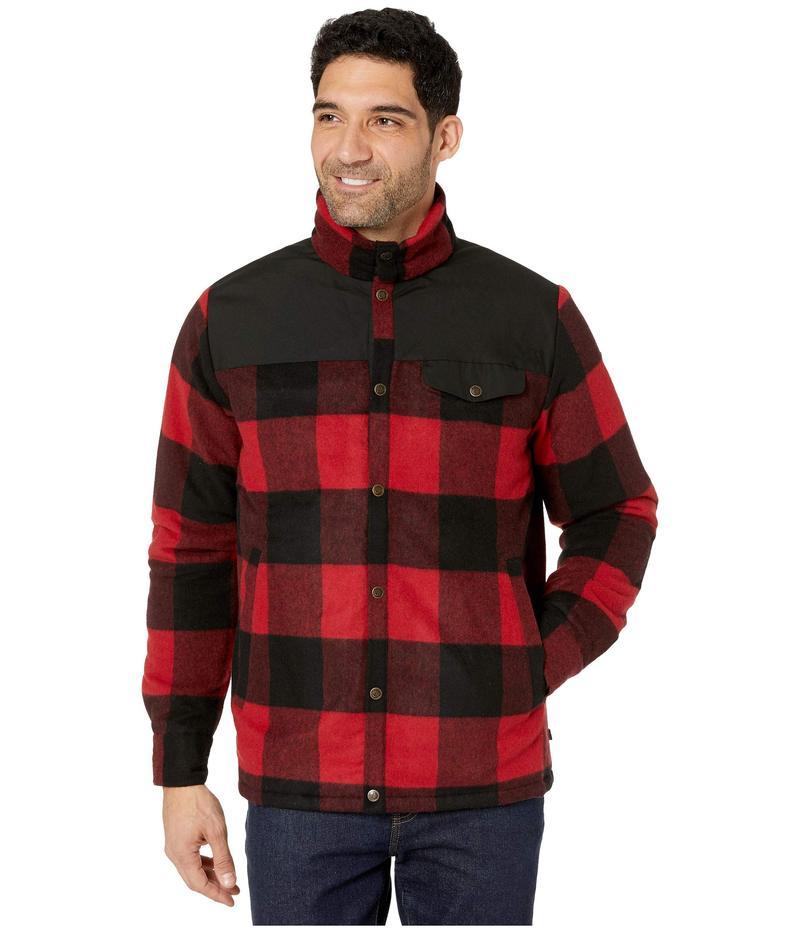 フェールラーベン メンズ コート アウター Canada Wool Padded Jacket Red