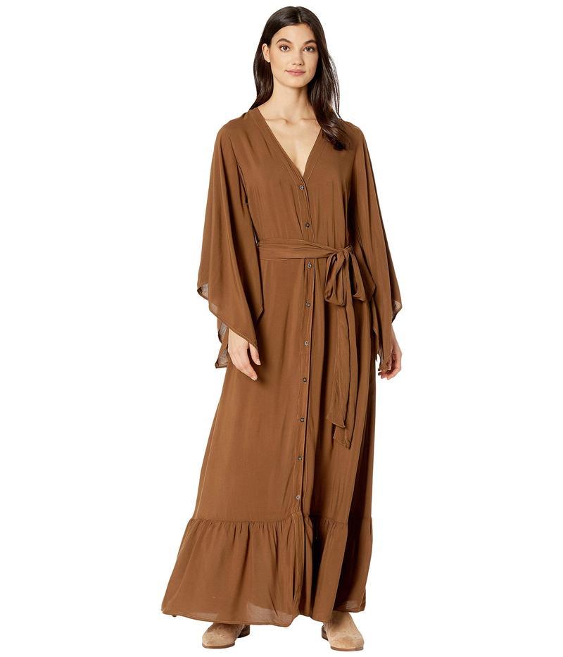 ハードテイル レディース ワンピース トップス Kimono Dress Hickory